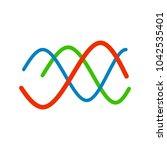 biorhythm chart icon | Shutterstock .eps vector #1042535401