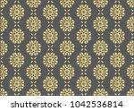 vector royal gold seamless... | Shutterstock .eps vector #1042536814