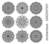 mandala vector design element.... | Shutterstock .eps vector #1042537537