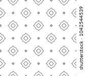 seamless geometric ornamental... | Shutterstock .eps vector #1042544539