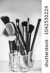 beauty tools and makeup... | Shutterstock . vector #1042550224