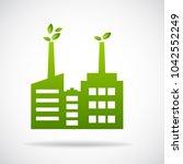 industry icon vector... | Shutterstock .eps vector #1042552249
