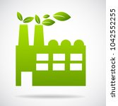 industry icon vector... | Shutterstock .eps vector #1042552255