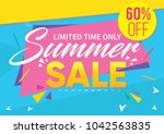summer sale banner template and ... | Shutterstock .eps vector #1042563835