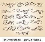 set of decorative elements.... | Shutterstock .eps vector #1042570861