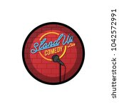 stand up comedy open mic vector ... | Shutterstock .eps vector #1042572991