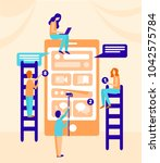 small people characters... | Shutterstock .eps vector #1042575784