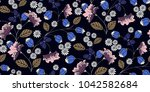 seamless floral pattern in... | Shutterstock .eps vector #1042582684