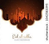 ramadan kareem greeting card... | Shutterstock .eps vector #1042583395