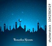 ramadan kareem greeting card... | Shutterstock .eps vector #1042583419