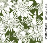 seamless pattern of tropical... | Shutterstock .eps vector #1042612411