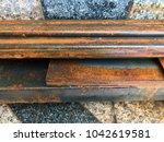 rustic metal from oxidation... | Shutterstock . vector #1042619581