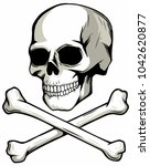 Skull And Crossed Bones  Vecto...