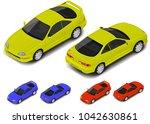vector isometric coupe sport... | Shutterstock .eps vector #1042630861