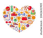 sport fitness activity games... | Shutterstock .eps vector #1042631905