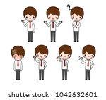 vector set of character cartoon ...   Shutterstock .eps vector #1042632601