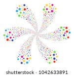 multicolored six pointed star... | Shutterstock .eps vector #1042633891