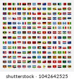 all world flags of the world.... | Shutterstock .eps vector #1042642525