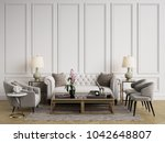 classic interior.sofa chairs... | Shutterstock . vector #1042648807
