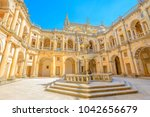 portugal  tomar. bottom view of ... | Shutterstock . vector #1042656679