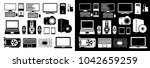 electronic device icons for web ... | Shutterstock .eps vector #1042659259