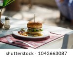 burger with meat | Shutterstock . vector #1042663087