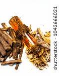 ayurvedic herb liquorice root... | Shutterstock . vector #1042666021