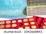 columns of coins 4 | Shutterstock . vector #1042668841