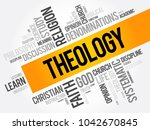theology word cloud collage ... | Shutterstock .eps vector #1042670845