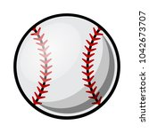 baseball ball vector... | Shutterstock .eps vector #1042673707