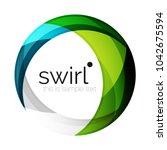 digital techno swirl circle...   Shutterstock .eps vector #1042675594