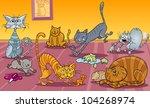 cartoon illustration of many...   Shutterstock .eps vector #104268974