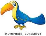 illustration of a blue toucan   ... | Shutterstock . vector #104268995