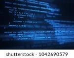 the programming code works... | Shutterstock . vector #1042690579