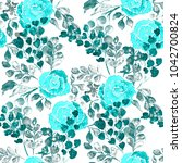 watercolor seamless pattern... | Shutterstock . vector #1042700824