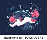 virtual reality designer... | Shutterstock .eps vector #1042701571