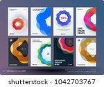 set of design brochure ... | Shutterstock .eps vector #1042703767