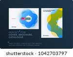 creative design of brochure set ... | Shutterstock .eps vector #1042703797