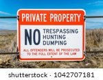 private property sign   Shutterstock . vector #1042707181