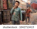 dhaka   bangladesh   january 17 ... | Shutterstock . vector #1042713415
