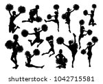 detailed silhouette... | Shutterstock .eps vector #1042715581