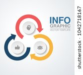 vector infographic template for ... | Shutterstock .eps vector #1042718167