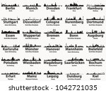 germany largest cities skylines ... | Shutterstock .eps vector #1042721035