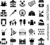 amusement park icons | Shutterstock .eps vector #104272634