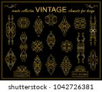 vector vintage elements for... | Shutterstock .eps vector #1042726381