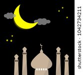 ramadan kareem eid template... | Shutterstock .eps vector #1042734211