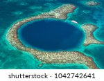 the great blue hole in belize | Shutterstock . vector #1042742641