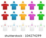 plain t shirt template. | Shutterstock .eps vector #104274299