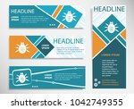 bug icon on horizontal and... | Shutterstock .eps vector #1042749355