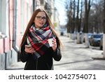 girls on a walk in sunny... | Shutterstock . vector #1042754071